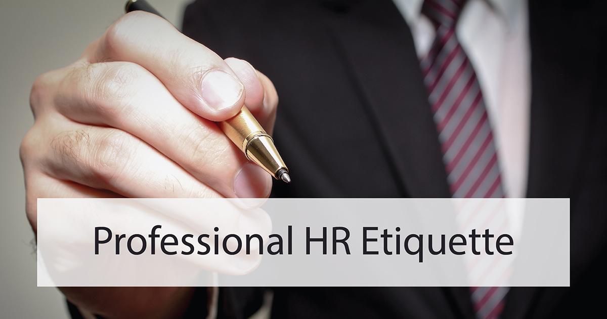 ภาพลักษณ์และมารยาทของ HR มืออาชีพ